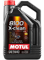 Motul 8100 X-clean SAE 5W-40 синтетическое моторное масло, 5 л