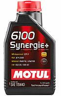 Motul 6100 Synergie+ SAE 10W-40 синтетическое моторное масло, 1 л (839411)