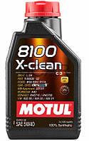 Motul 8100 X-clean SAE 5W-40 синтетическое моторное масло, 1 л (854111)