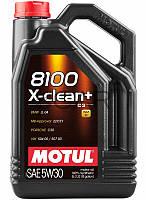 Motul 8100 X-clean+ SAE 5W-30 синтетическое моторное масло, 5 л (854751)