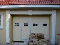 Секционные ворота с калиткой для гаража 2500х2000