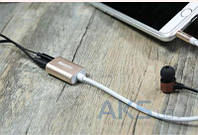 Переходник для наушников REMAX RL-S20 3.5mm Dual Port Aux Cable Silver