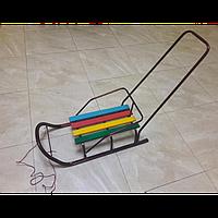 Детский Санки с ручкой толкателя 82111, Санки 82111 с ручкой