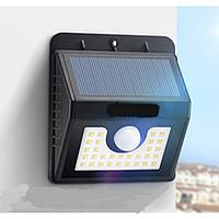 Подсветка стены фасада LED Lemanso 3W 300LM IP65 с датчиком движения, фотоэлементом и солнечной батареей LM997