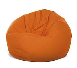 Кресло пуф Груша XXL оранжевого цвета