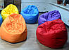 Кресло пуф Груша XXL оранжевого цвета, фото 4