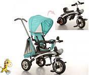 Велосипед M 3212A-1 1шттри кол.резина,трансформербеговел,поворот,быстросъем.колеса,бирюза