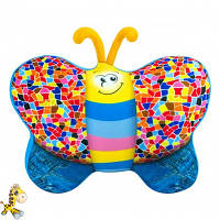 Игрушка антистресс с шариками подушка бабочка джинс