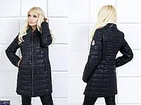 Женская куртка Moncler из водоотталкивающей ткани черного цвета.  Арт - 18085