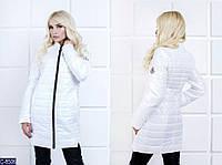 Женская куртка Moncler из водоотталкивающей ткани белого цвета.  Арт - 18085