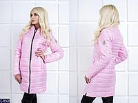 Женская куртка Moncler из водоотталкивающей ткани розового цвета.  Арт - 18085
