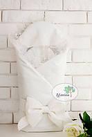 Зимний конверт - одеяло для новорожденного Flavien 1018/y молочный