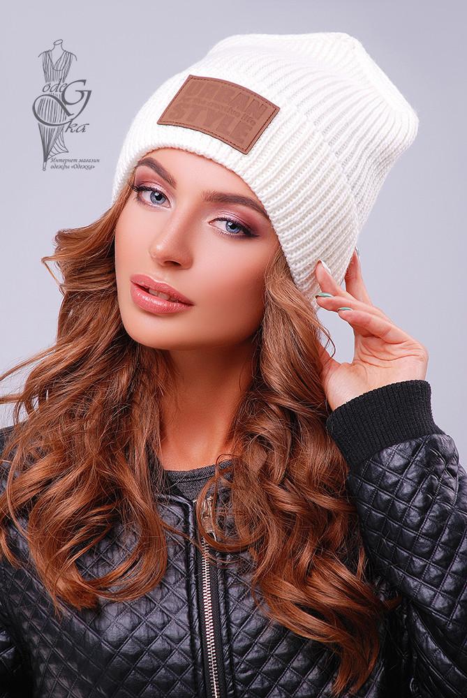 Вязаные женские шапки Стайл нить шерсть-акрил