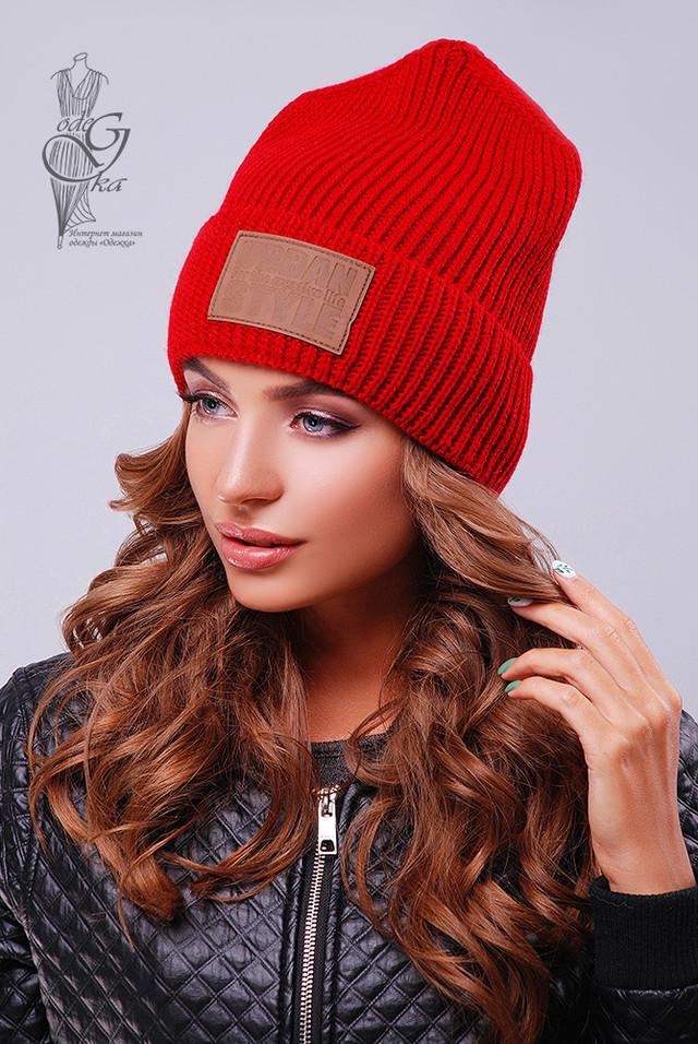 Красный цвет Вязаных женских шапок Стайл