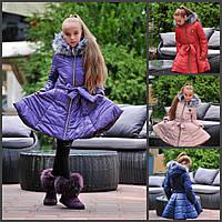 Детское пальто с юбкой  15055, фото 1