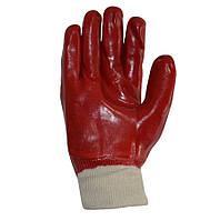 Рукавиці ПВХ червоні маслобензостійкі