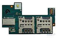 Слот сим карты и карты памяти на шлейфе для Sony C2305, C2306 C2304 S39H Xperia C Original