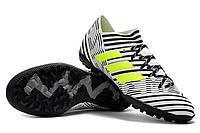 Футбольные сороконожки adidas Nemeziz Tango 17.3 TF White/Solar Yellow/Core Black, фото 1