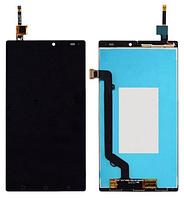 Дисплей (экран) для Lenovo A7010 X3 Lite/ Vibe K4 Note + с сенсором (тачскрином) черный