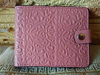 Портмоне нежно-розовые узоры