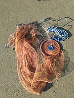 Парашют рыболовный.Кастинговая сеть из лески или капроновой нити с кольцом , диаметр 3,6 метра