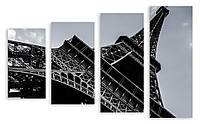 Модульная картина макро Эйфелева Башня