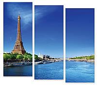 Модульная картина Эйфелева Башня у воды