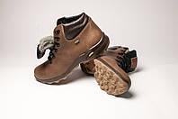 Ботинки мужские кожаные Крейзи оливковые