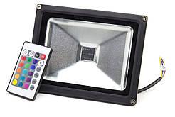 Светодиодный прожектор 20Вт, 1600Лм, RGB STANDART, цветной, ECO LEDEX