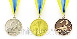 Медаль спортивная в лентой START (1,2,3) (металл, 27g)