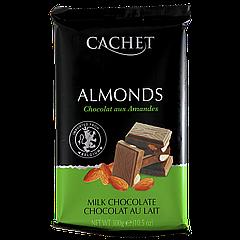 Шоколад CACHET Almonds 300г Молочный с миндалём  (1ящ/12шт)