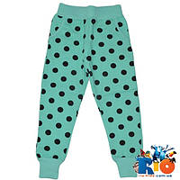 Детские спортивные брюки (зима), трикотаж на флисе, для девочки 1-4 года (4 ед уп)