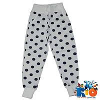 Детские спортивные брюки (зима), трикотаж на флисе, для девочки 5-8 лет (4 ед уп)