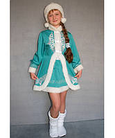 Детский карнавальный костюм для девочки Снегурочка№2/1