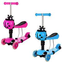 Самокат-беговел детский 3-х колесный iTrike MAXI JR 3-016 розовый