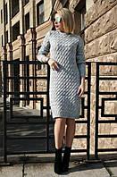 Зимнее женское серое платье ВИШНЯ ТМ Irmana 44-48 размеры