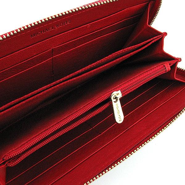 ... Кошелек кожаный женский на молнии красный Michael Kors 175-1141В, ... 79b8f18514e