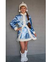 Детский карнавальный костюм для девочки Снегурочка№3/1, фото 1