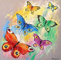 «Бабочки» картина маслом