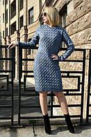 Зимнее женское платье ВИШНЯ джинс ТМ Irmana 44-48 размеры
