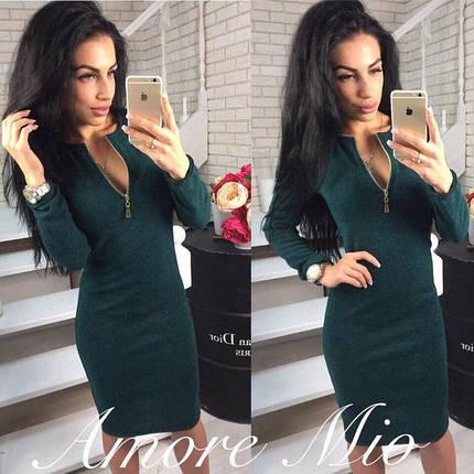 """Платье женское ангора софт темно-зеленое """"Gabriella, фото 2"""