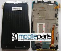 Оригинальный  Дисплей (Модуль) + Сенсор (Тачскрин) для  HTC One X | X+ | XL | G23 | S720E (С рамкой) (Черный)