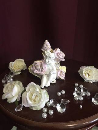 Ангел гипсовый В розах пастель, фото 2