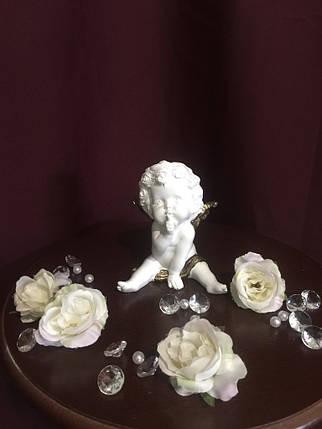 Ангел гипсовый Мальчик средний золото, фото 2
