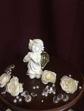 Ангел гипсовый Молящийся малый золото, фото 2