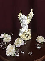 Ангел гипсовый На камне покраска пастель