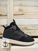 Кроссовки с мехом Nike Lunar Force 1 Duckboot (grey)