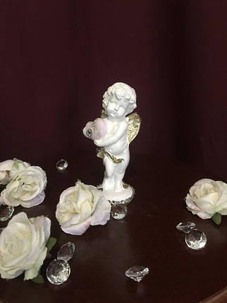 Ангел гипсовый С сердцем пастель, фото 2