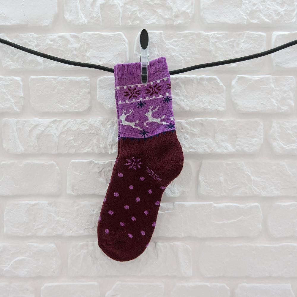 Носки термо унисекс из шерсти бордовый
