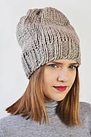 Комфортная вязаная шапка на зиму